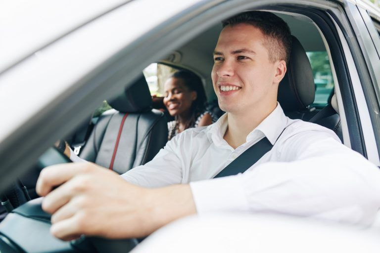 Man working as a driver